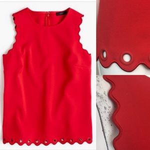 J. Crew Scalloped Tank Top with Grommets